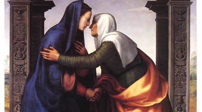 The Visitation of St. Elizabeth to the Virgin Mary by Mariotto Albertinelli