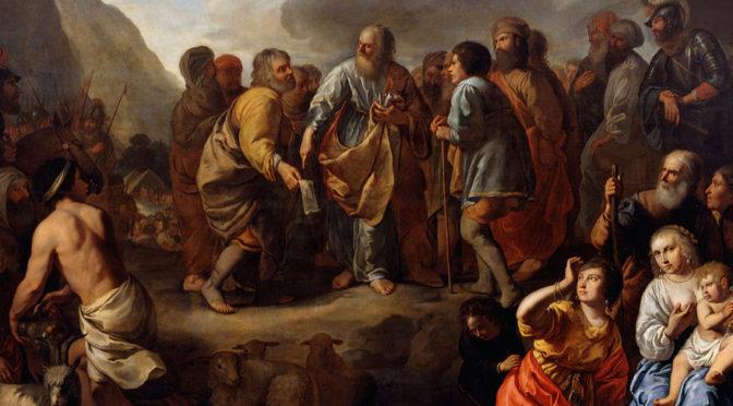 "Jethro Advising Moses"" by Jan van Bronchorst"