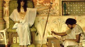 """Joseph, Overseer of Pharaoh's Granaries"" by Sir Lawrence Ima-Tadema, 1874"
