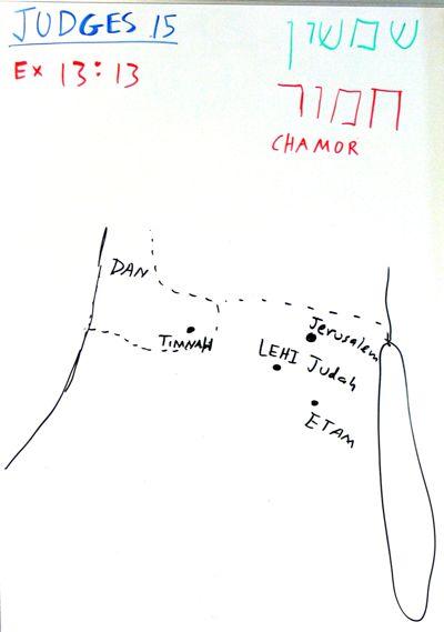 Judges 15 map