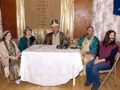Purim 2011 - court of King Xerxes