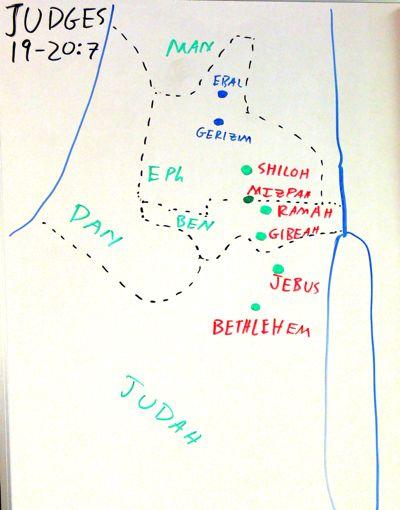Judges 19 map